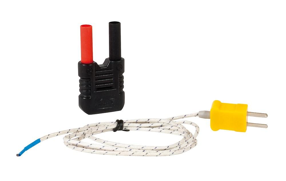 TC-K Cable -50/+350 °C y Adapt. de segu.para DMM
